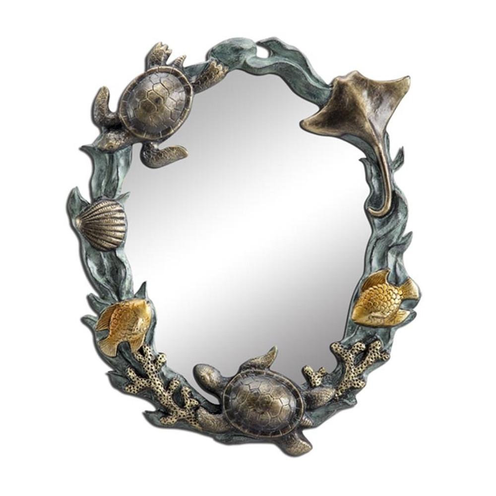 Turtle Sea Life Wall Mirror   34624   SPI Home