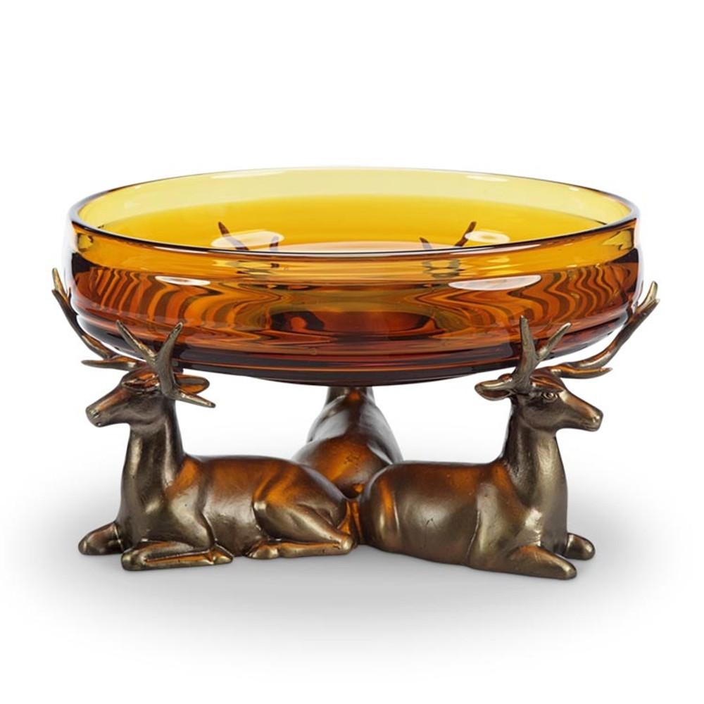 Deer Glass Bowl | 34642 | SPI Home
