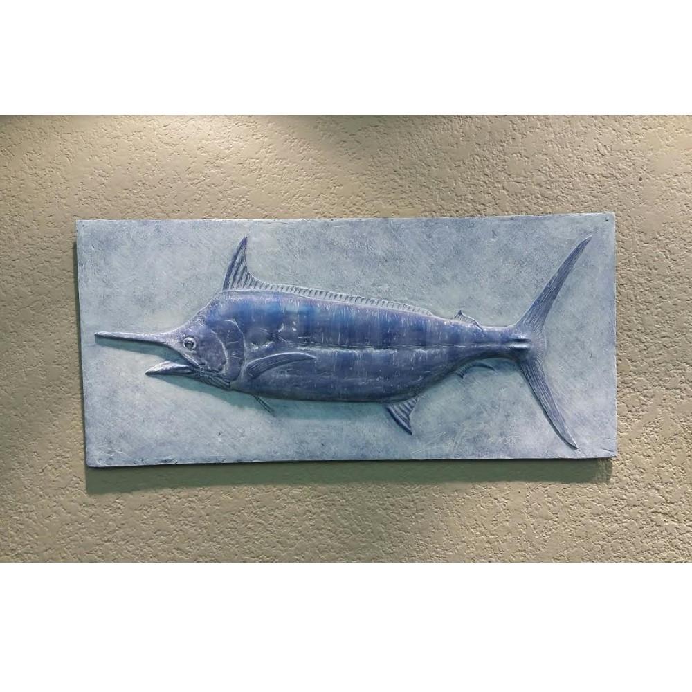 Blue Marlin Bas Relief Ltd Edition Wall Art | Rod Zullo