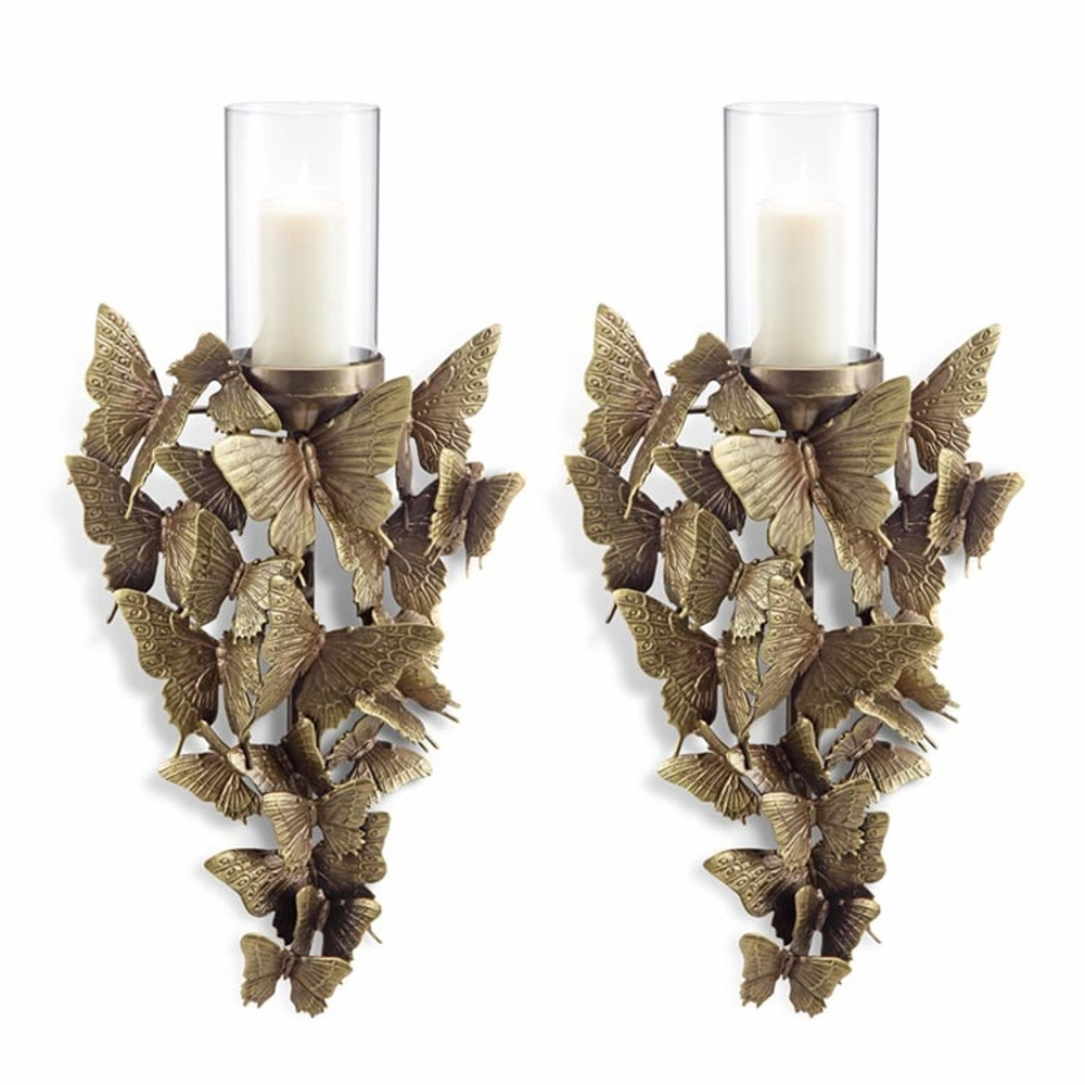 Butterfly Wall Sconce Set of 2 | 34660 | SPI Home