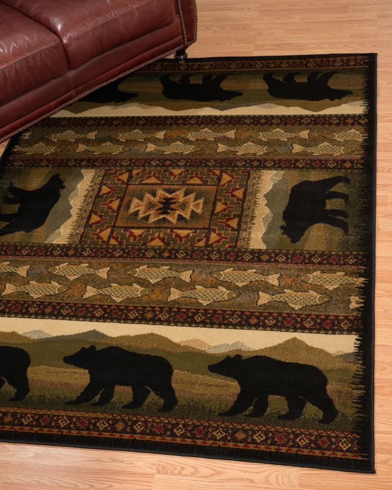 Black Bears Area Rug | United Weavers | UW750-01943