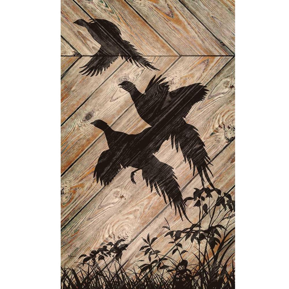 Pheasant Silhouette Wood Wall Art | Wild Wings | 5209606105