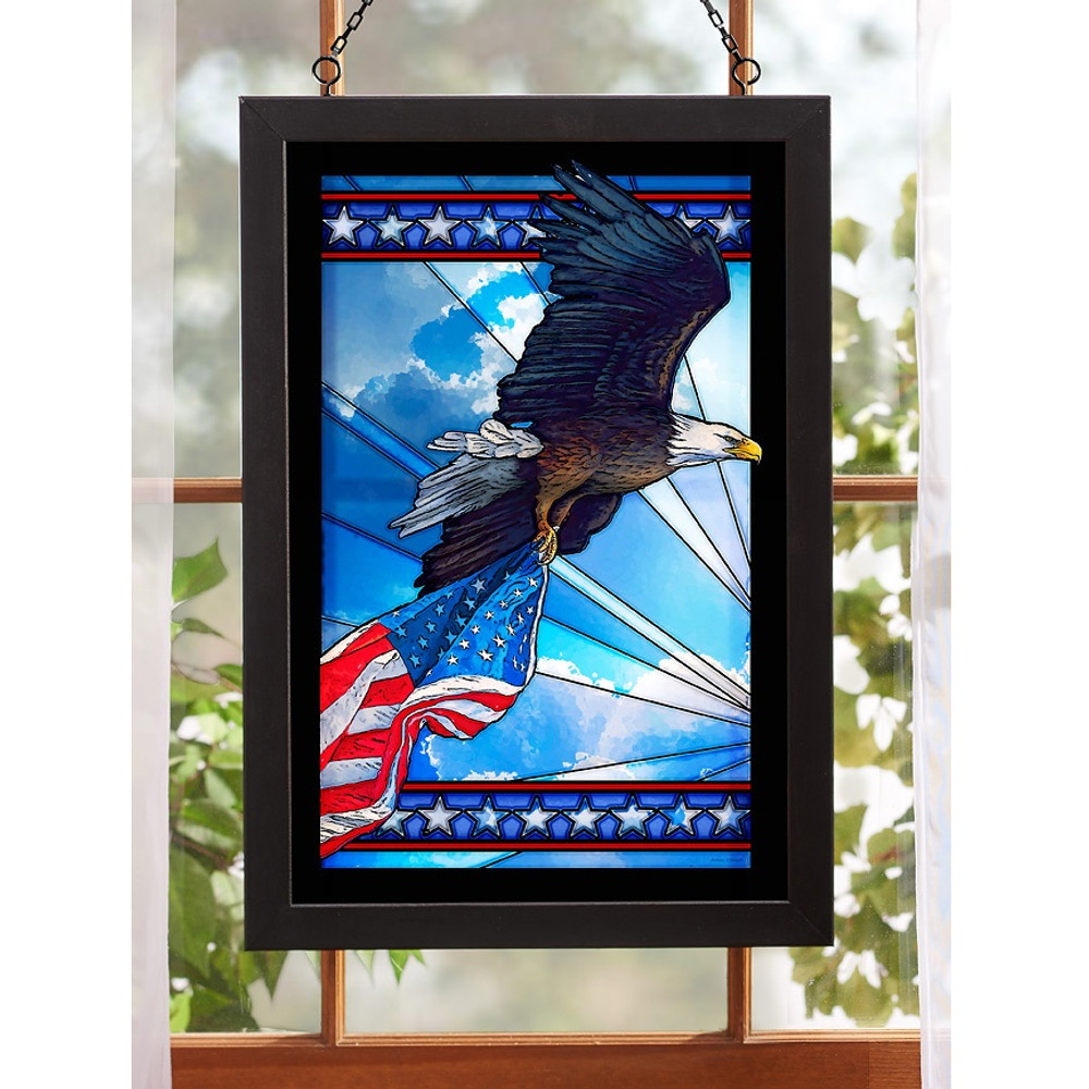 Bald Eagle Stained Glass Art | Wild Wings | 5386498015