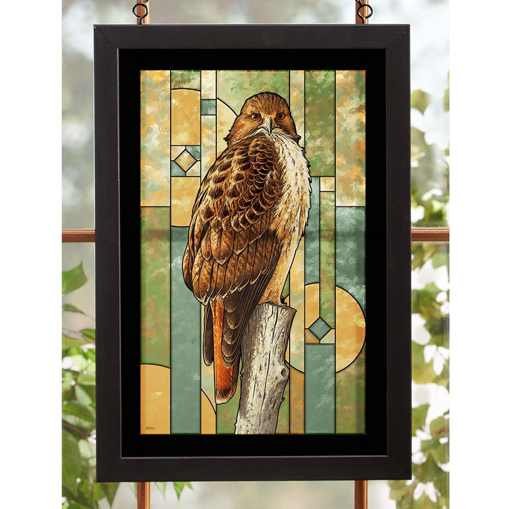 Red-tailed Hawk Stained Glass Art | Wild Wings | 5386498018