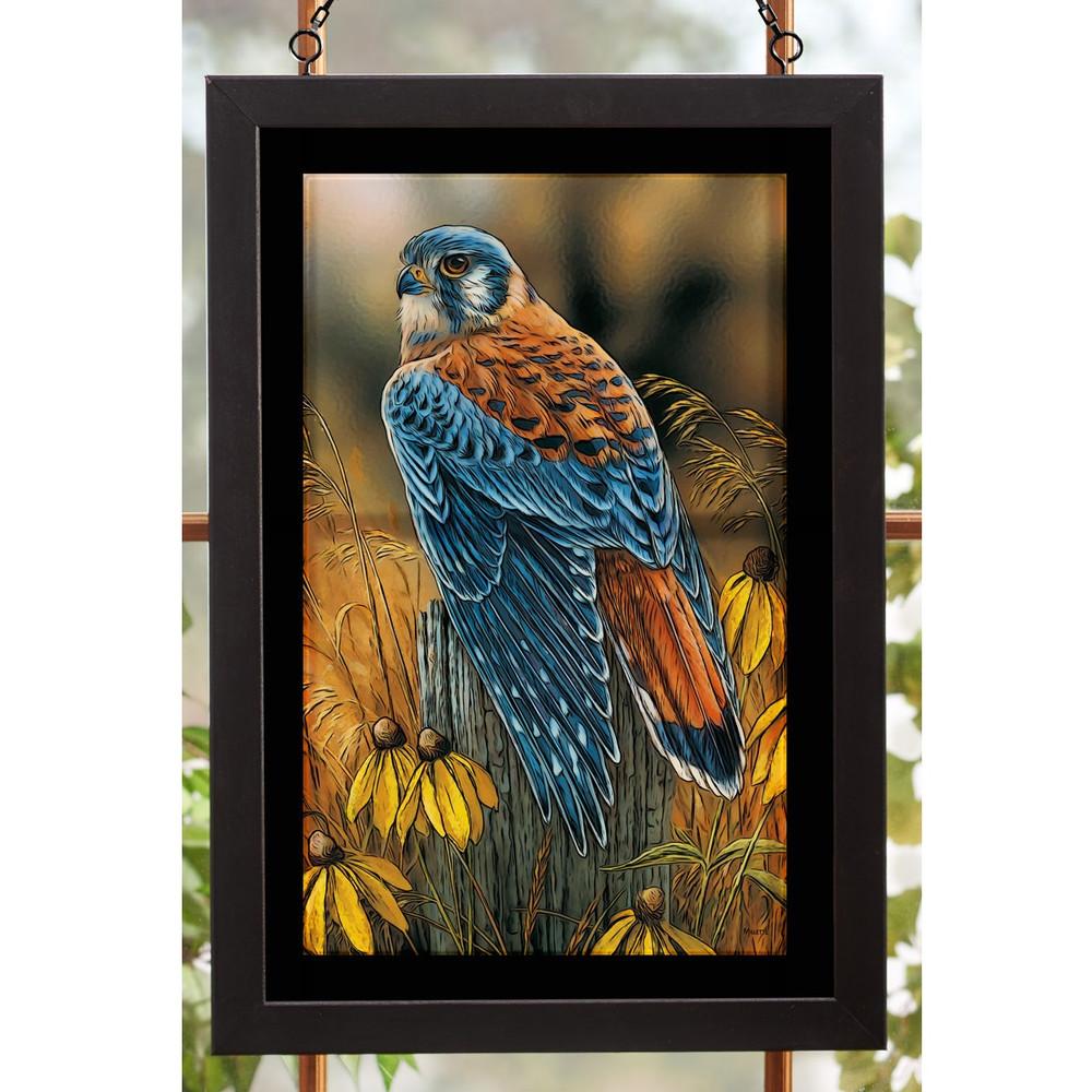 Kestrel Falcon Stained Glass Art | Wild Wings | 5386498024