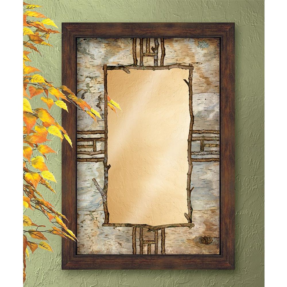 Hardwood Forest Decorative Mirror | Wild Wings | 5386493504