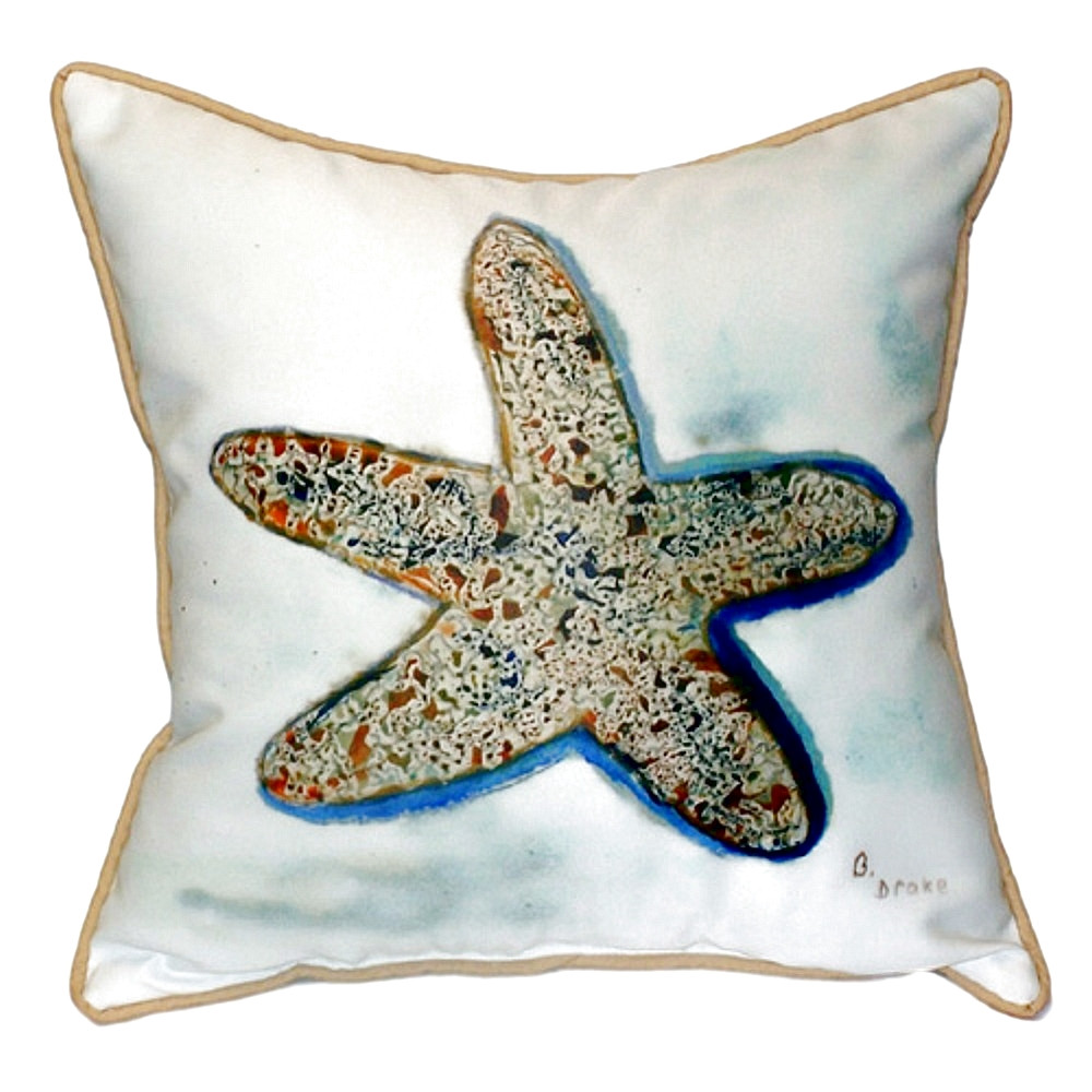 Starfish Indoor Outdoor Pillow 22x22 | Betsy Drake | BDZP604