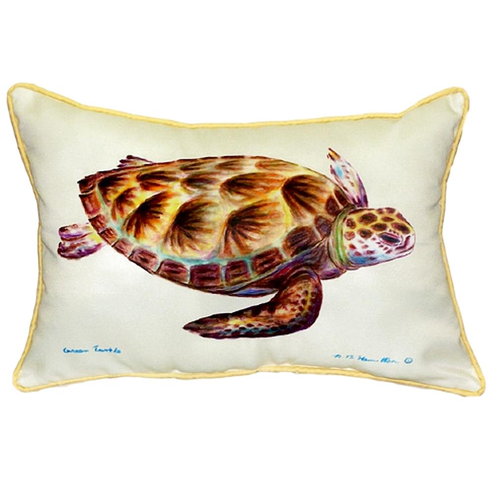Green Sea Turtle Indoor Outdoor Pillow 20x24 | Betsy Drake | BDZP044