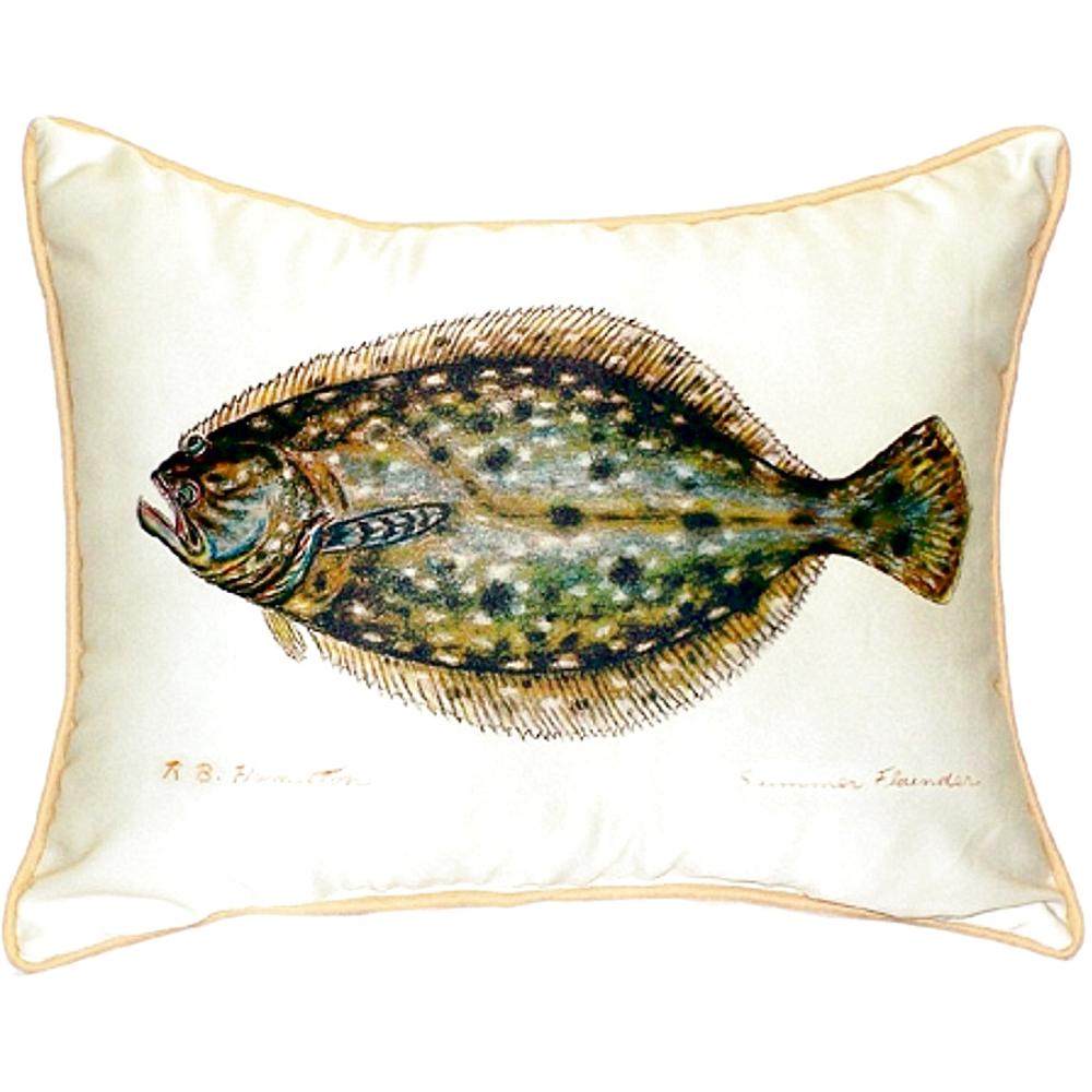 Flounder Indoor Outdoor Pillow 20x24 | Betsy Drake | BDZP014