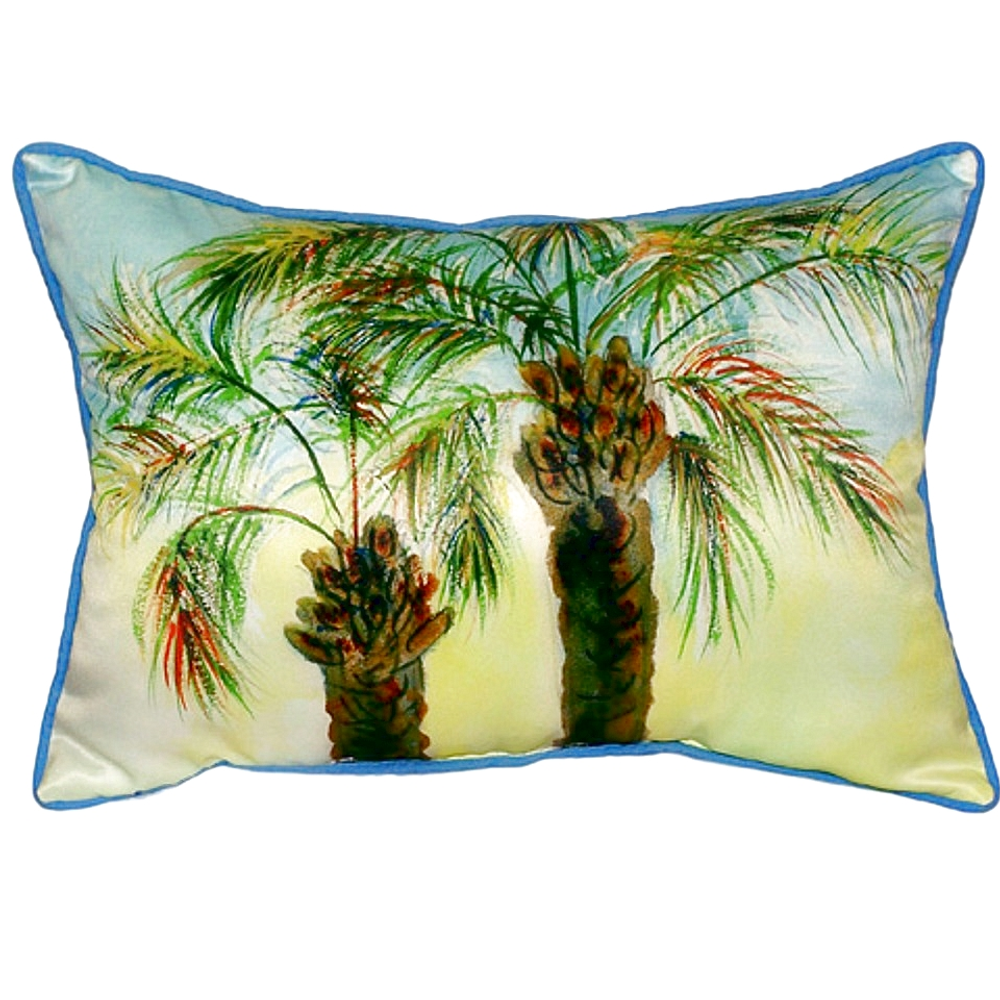 Palm Tree Pair Indoor Outdoor Pillow 20x24 | Betsy Drake | BDZP385