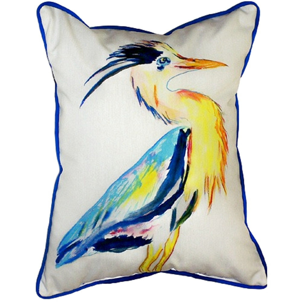 Great Blue Heron Indoor Outdoor Pillow 20x24 | Betsy Drake | BDZP328