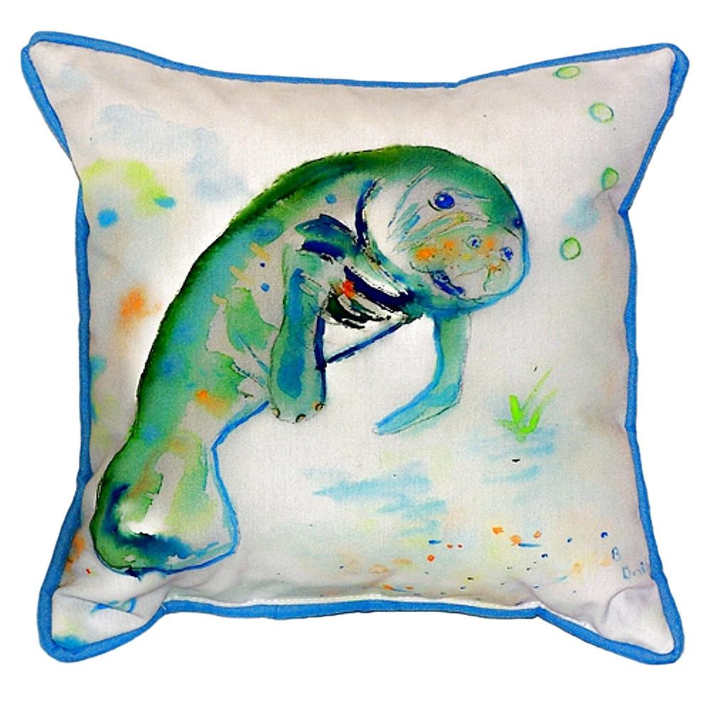 Manatee Indoor Outdoor Pillow 22x22 | Betsy Drake | BDZP061