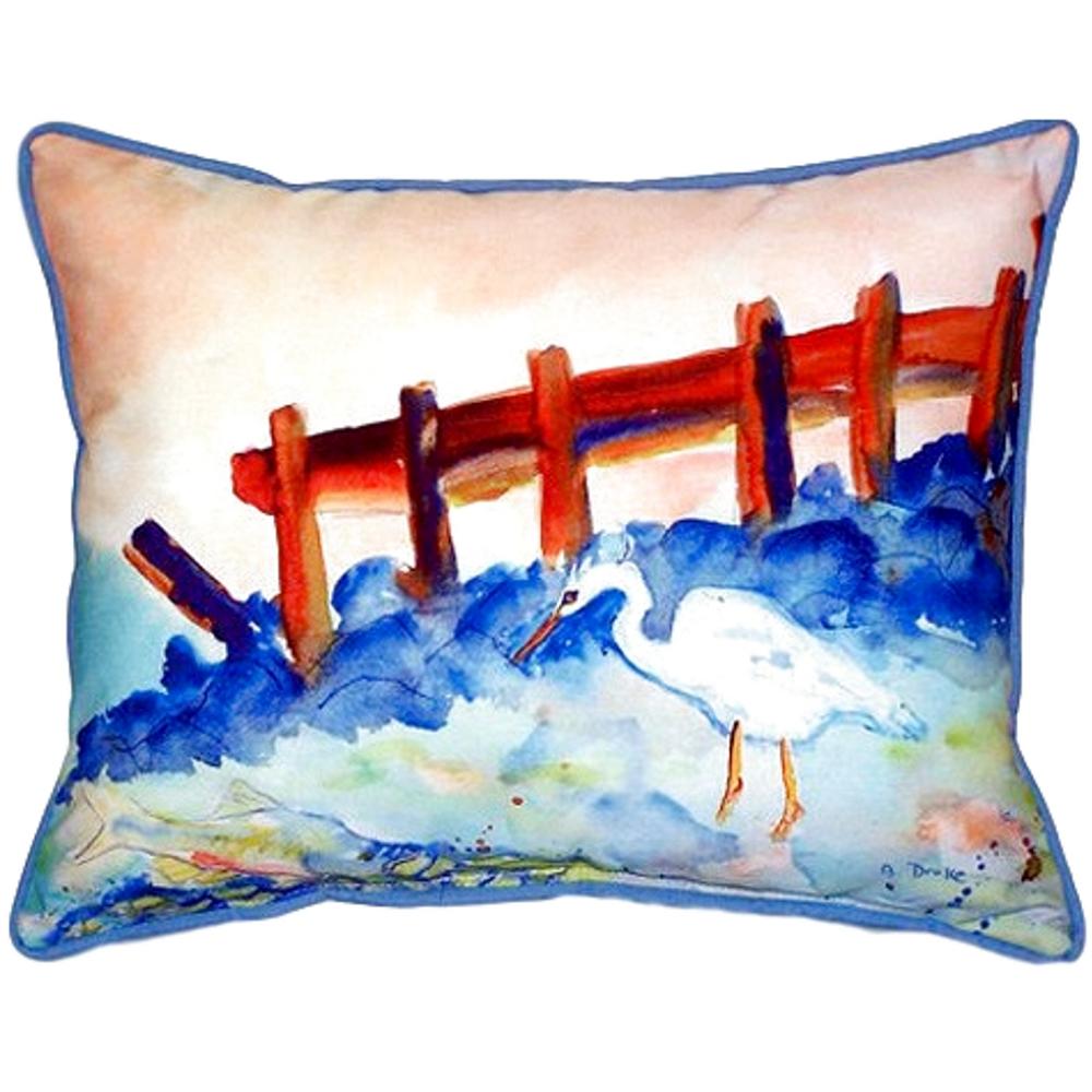 Great White Heron Scene Indoor Outdoor Pillow 20x24 | Betsy Drake | BDZP329