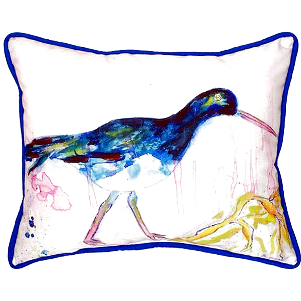Black Shore Bird Indoor Outdoor Pillow 20x24 | Betsy Drake | BDZP421