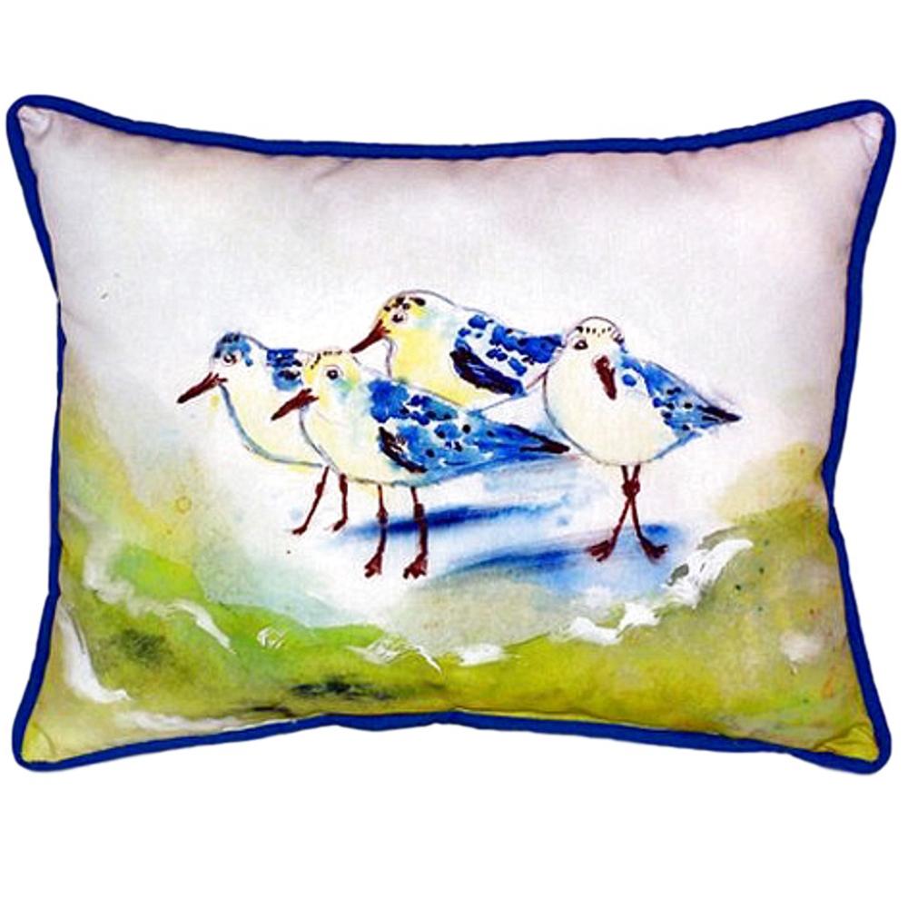 Sanderling Green Indoor Outdoor Pillow 20x24 | Betsy Drake | BDZP956