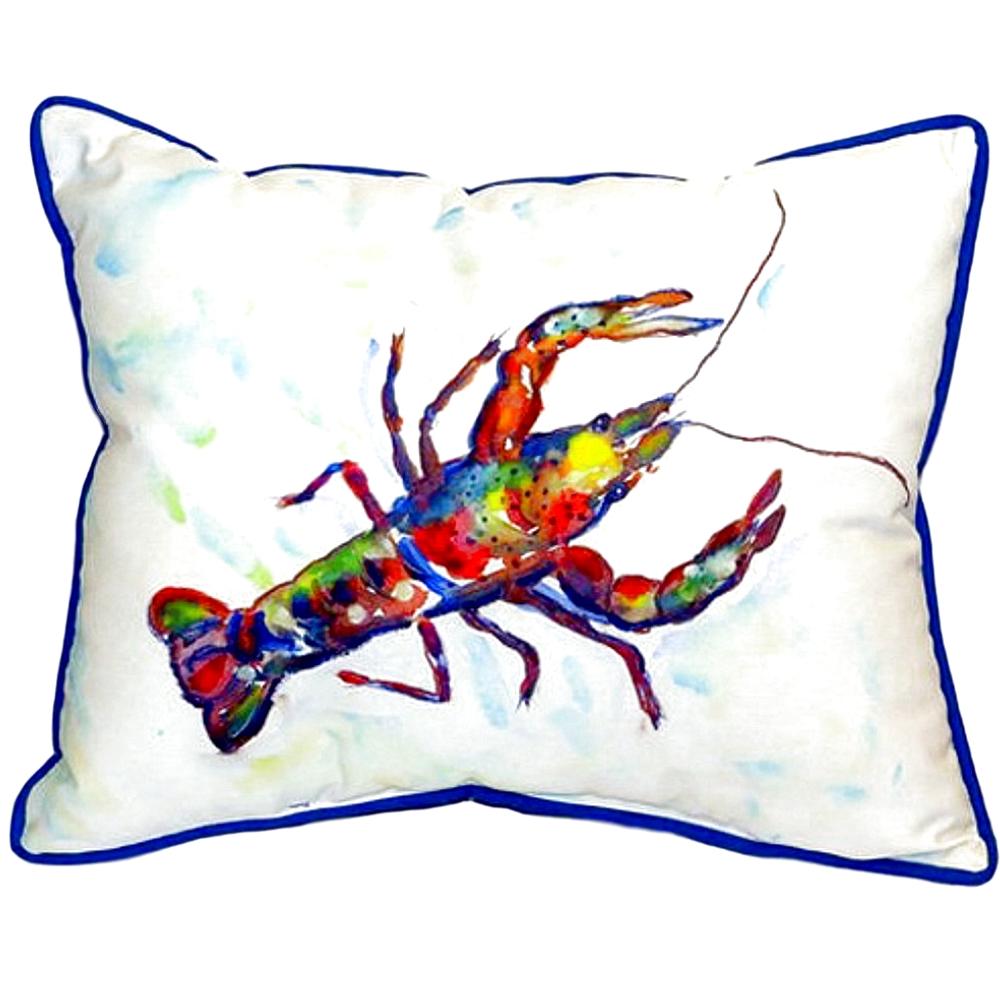 Crayfish Indoor Outdoor Pillow 20x24 | Betsy Drake | BDZP986A