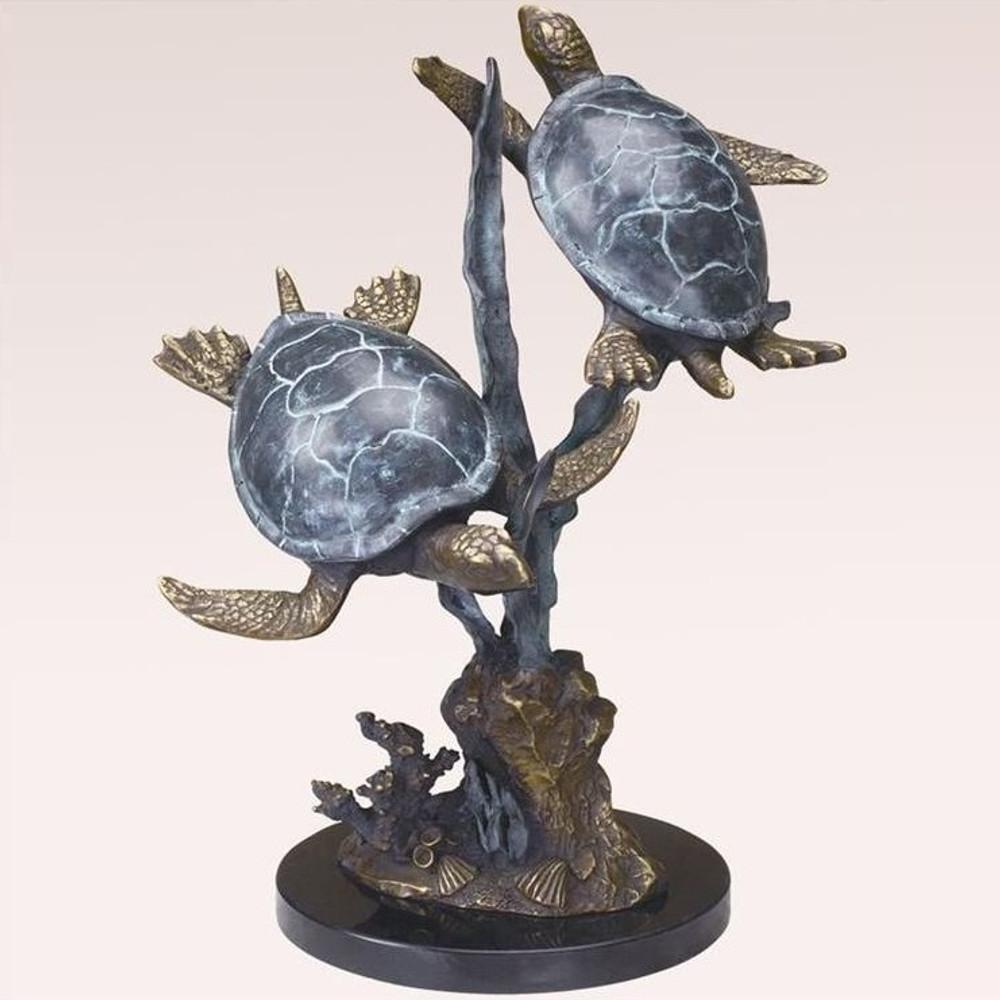 Turtle Duet Sculpture   31541   SPI Home