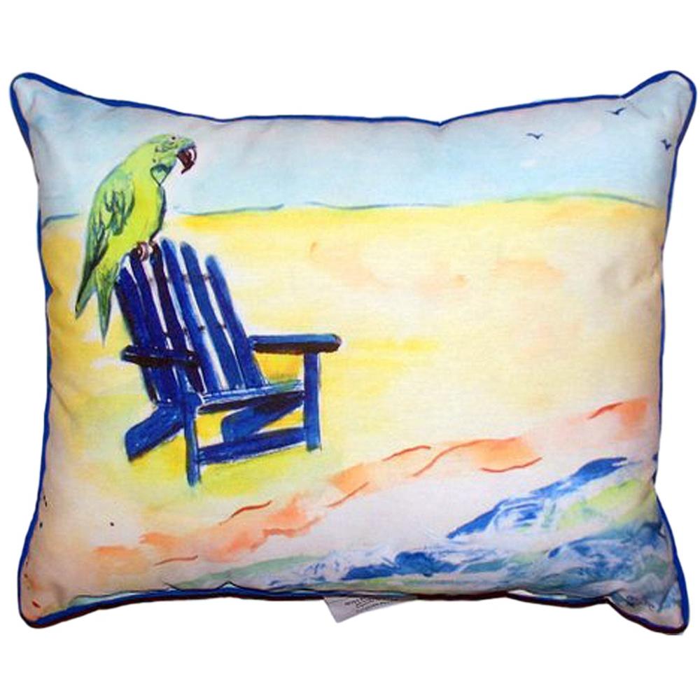Parrot Beach Chair Indoor Outdoor Pillow 20x24   Betsy Drake   BDZP398