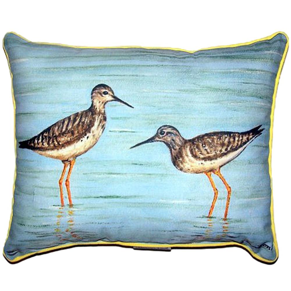 Coastal Bird Pair Indoor Outdoor Pillow 20x24 | Betsy Drake | BDZP430