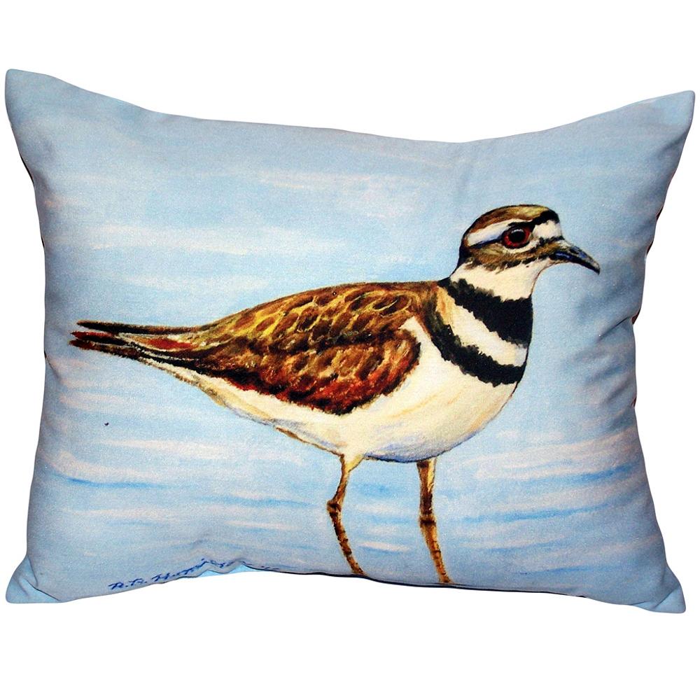 Killdeer Bird Indoor Outdoor Pillow 20x24   Betsy Drake   BDZP546
