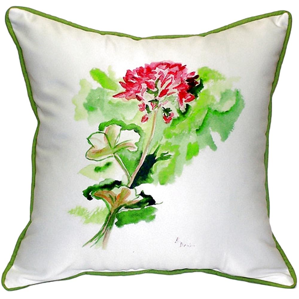 Geranium Indoor Outdoor Pillow 22x22 | Betsy Drake | BDZP199