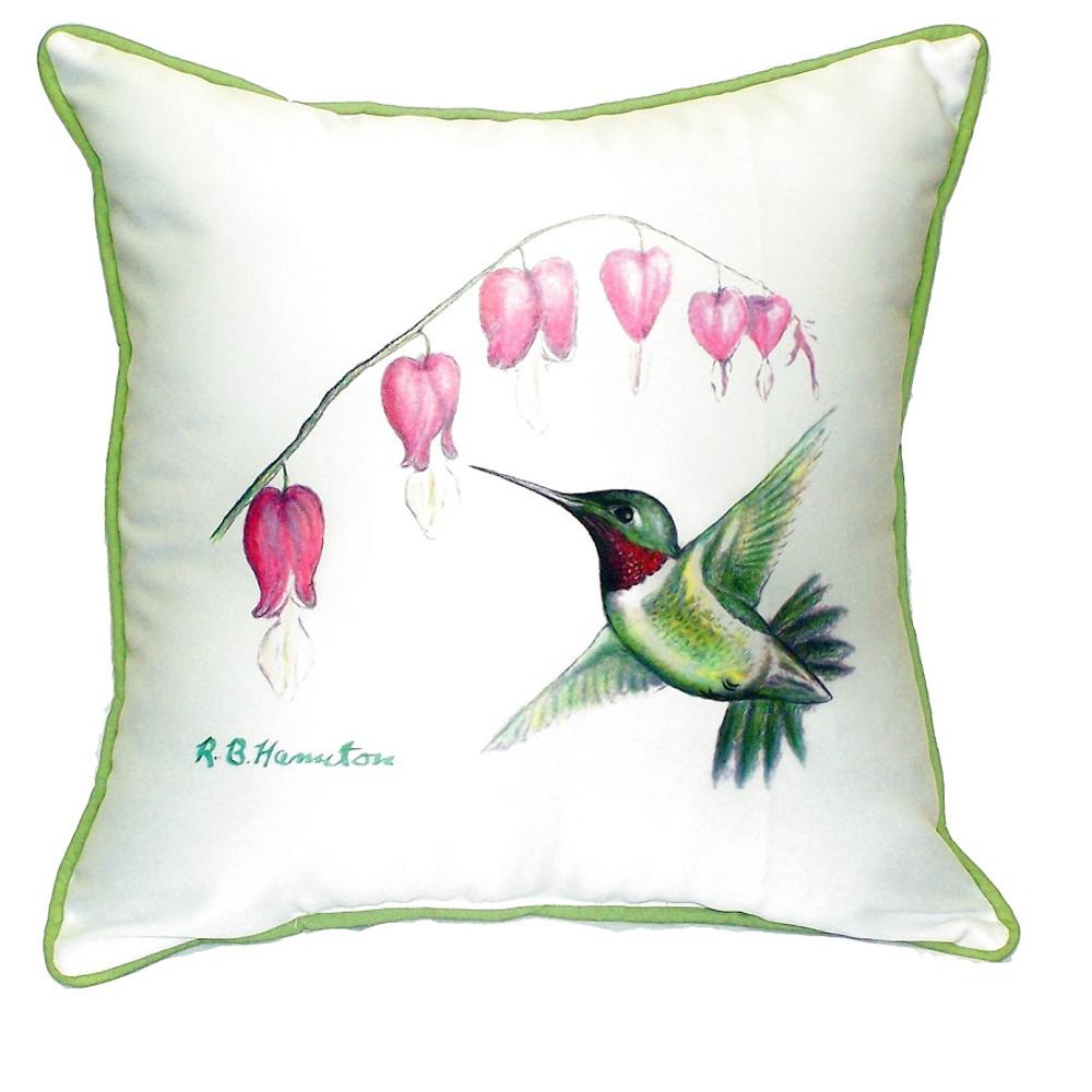 Hummingbird Indoor Outdoor Pillow 22x22 | Betsy Drake | BDZP030