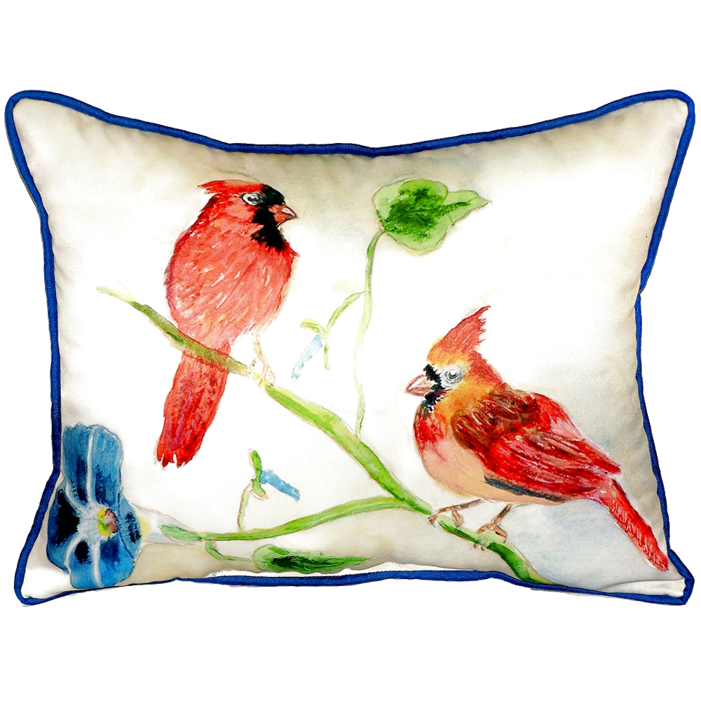 Cardinal Pair Indoor Outdoor Pillow 20x24 | Betsy Drake | BDZP270