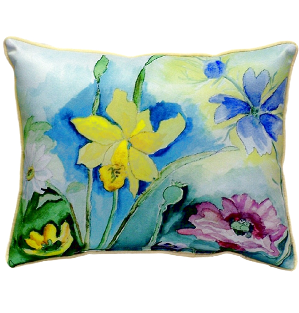 Flower Indoor Outdoor Pillow 20x24 | Betsy Drake | BDZP194