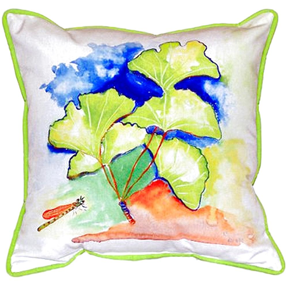 Ginkgo Leaf Indoor Outdoor Pillow 22x22 | Betsy Drake | BDZP152