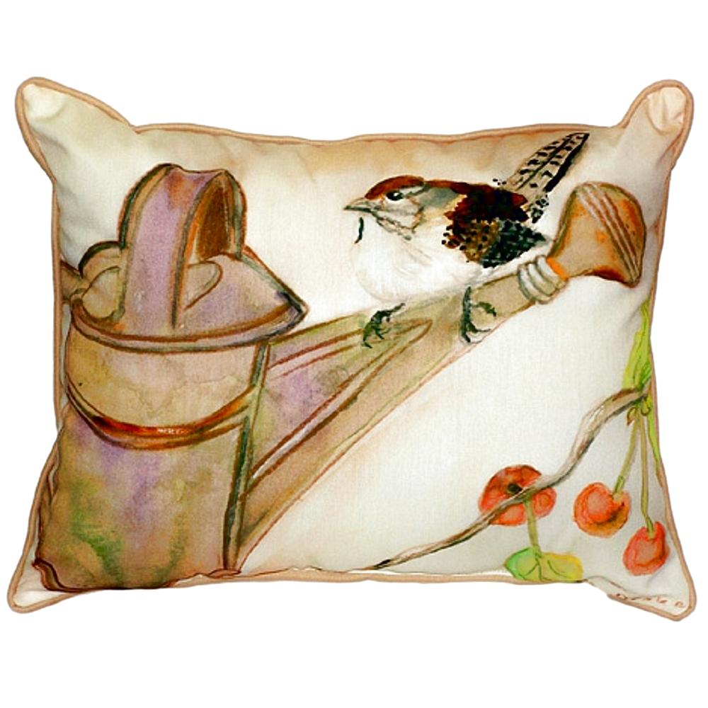 Carolina Wren Indoor Outdoor Pillow 20x24 | Betsy Drake | BDZP268
