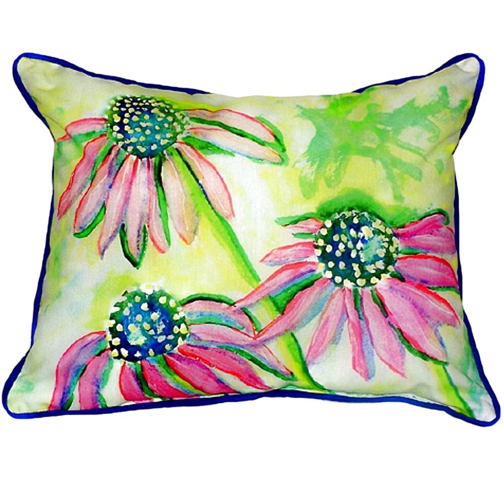 Cone Flower Indoor Outdoor Pillow 20x24   Betsy Drake   BDZP195