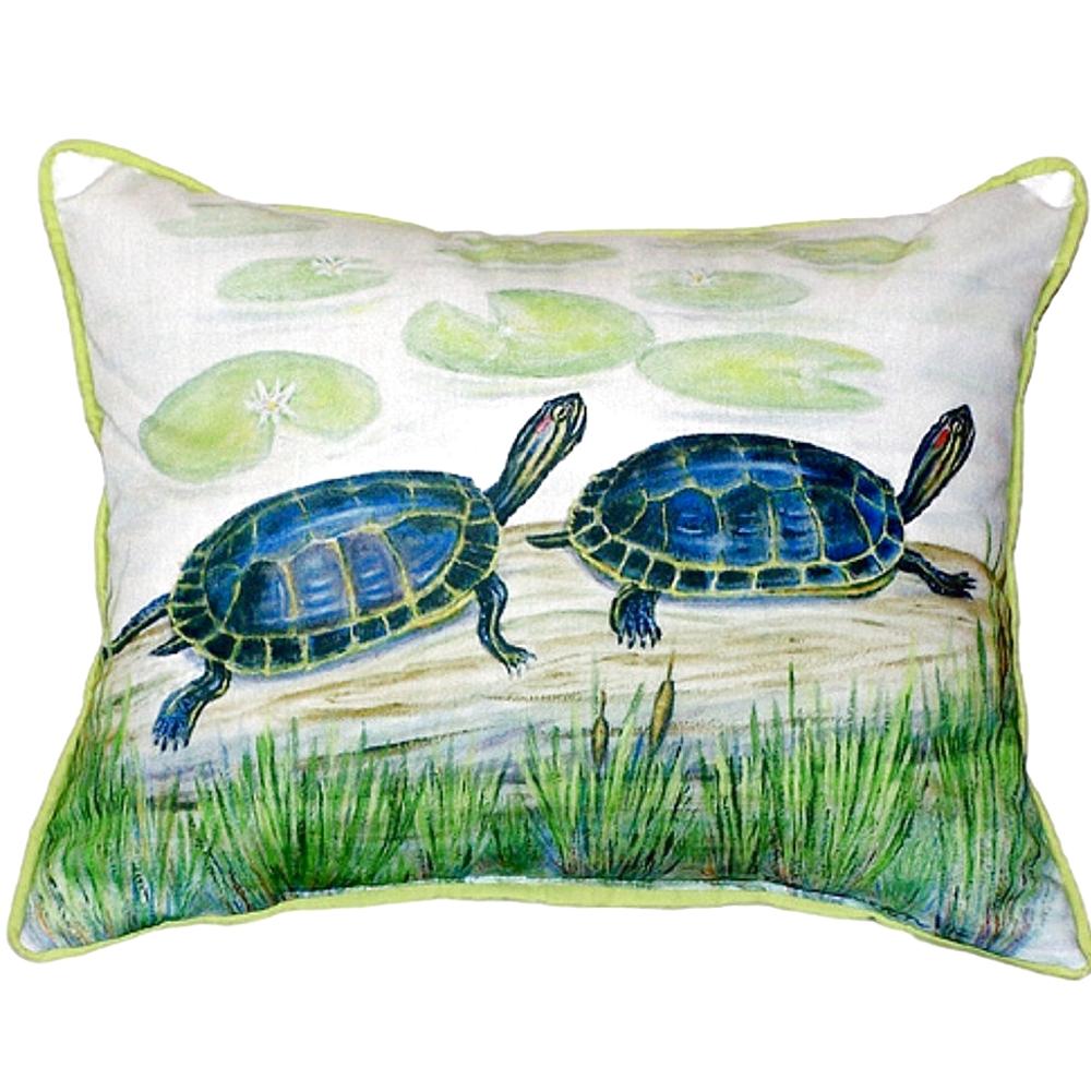 Turtle Pair Indoor Outdoor Pillow 20x24 | Betsy Drake | BDZP045