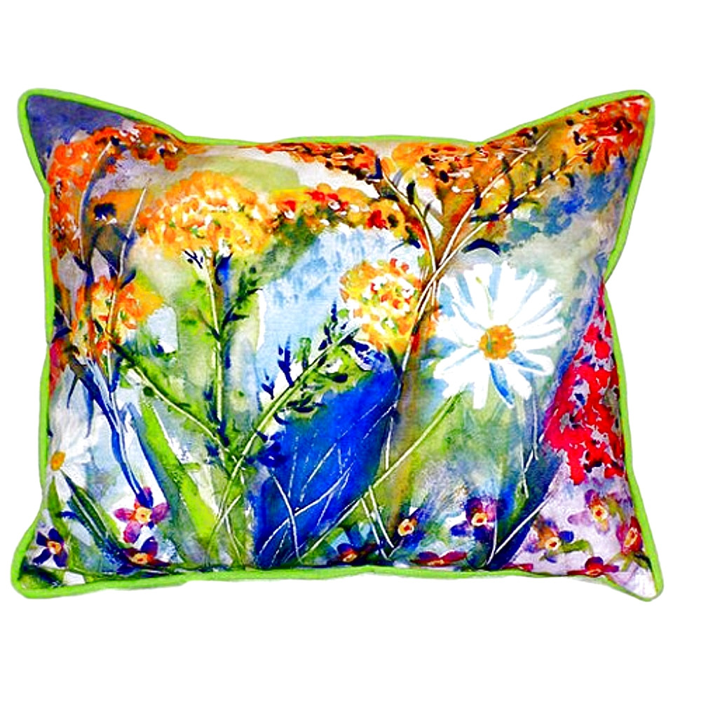 Wild Flower Indoor Outdoor Pillow 20x24 | Betsy Drake | BDZP166
