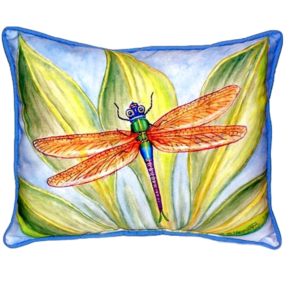 Dragonfly Leaf Indoor Outdoor Pillow 20x24 | Betsy Drake | BDZP299