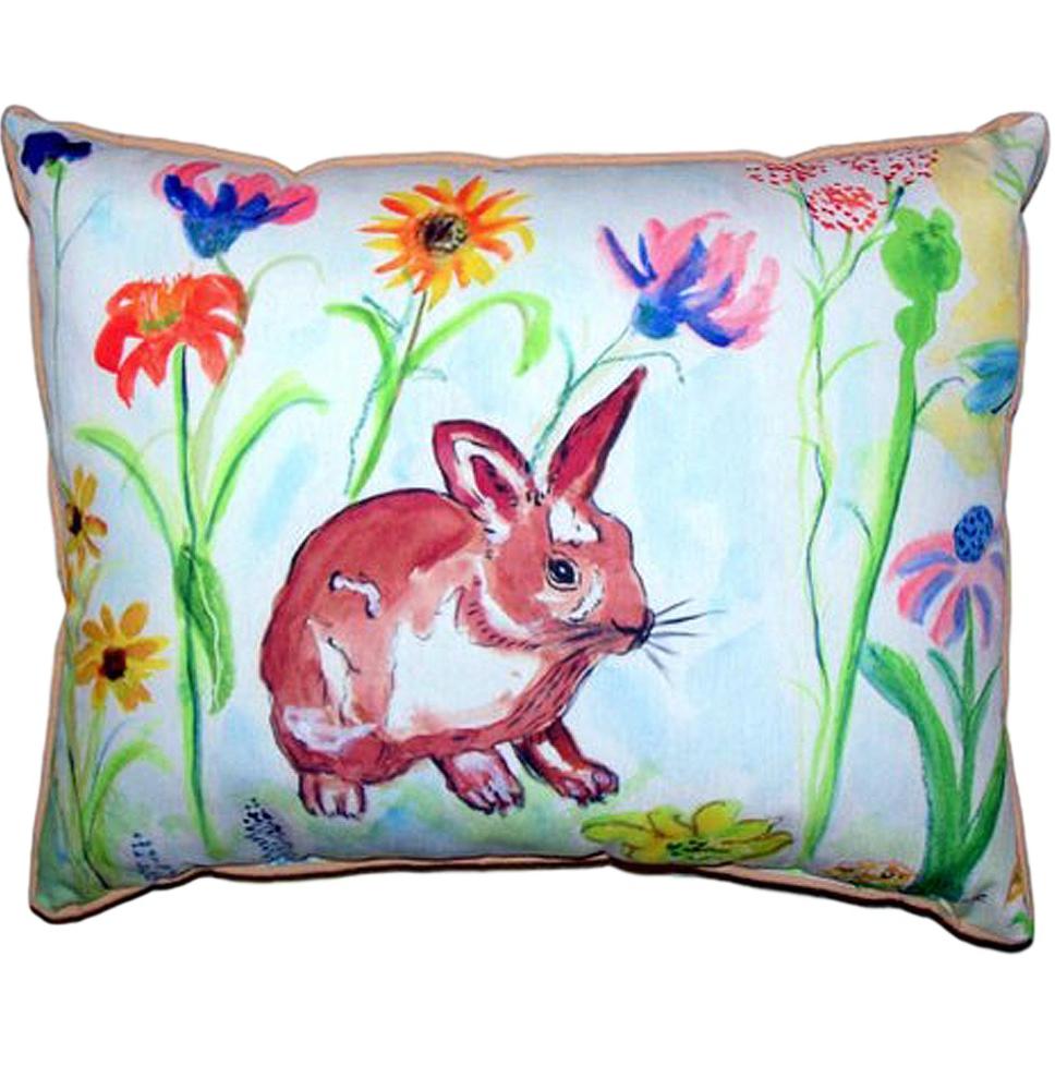 Bunny Rabbit Indoor Outdoor Pillow 20x24   Betsy Drake   BDZP428