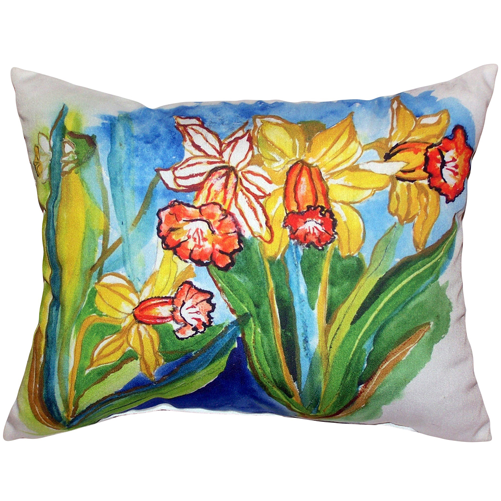 Daffodil Indoor Outdoor Pillow 20x24 | Betsy Drake | BDZP542
