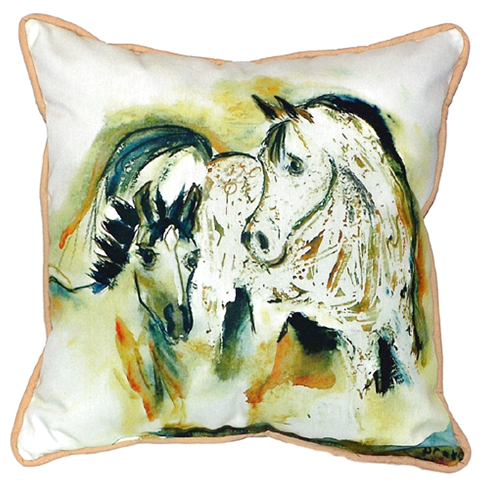 Mare and Colt Indoor Outdoor Pillow 22x22 | Betsy Drake | BDZP058