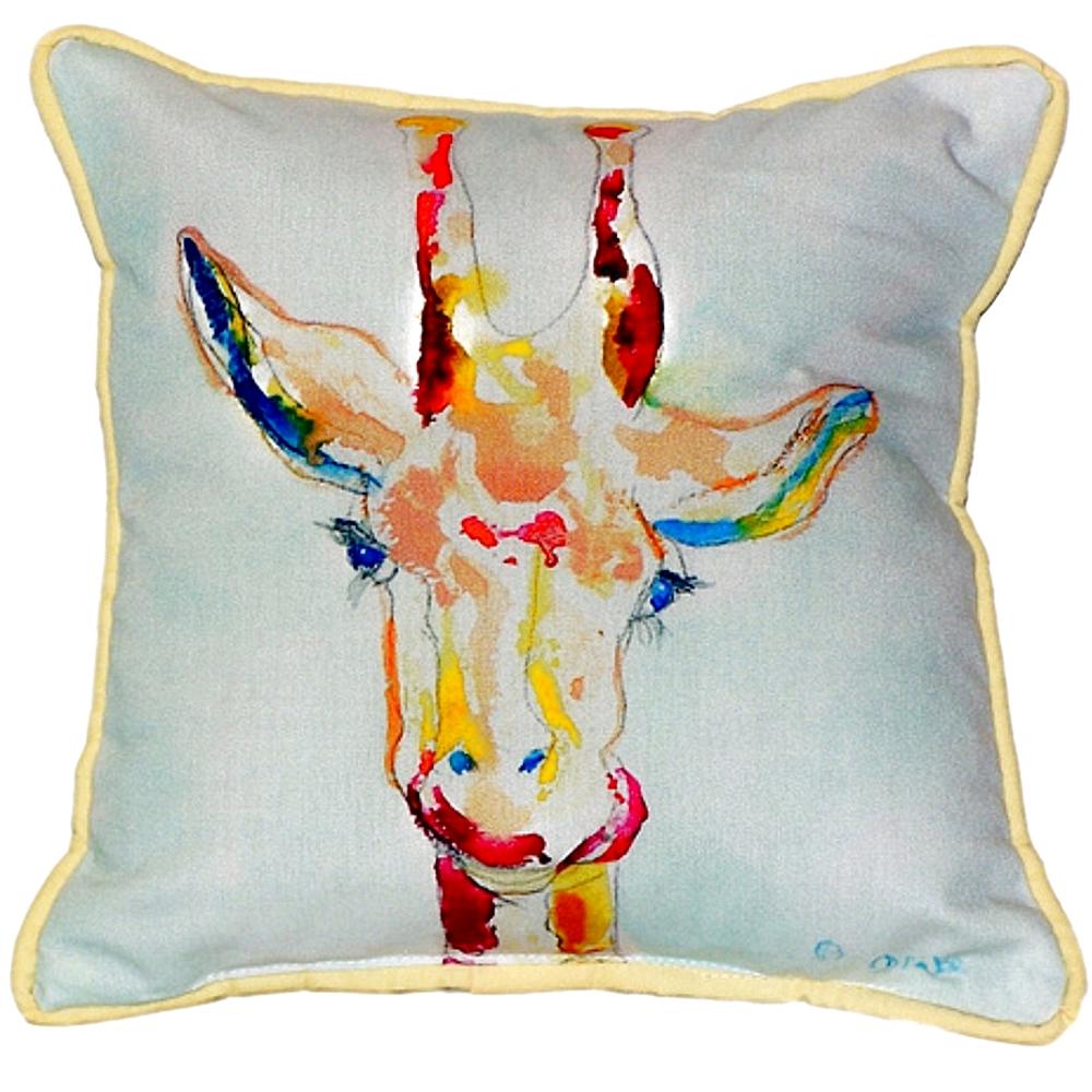Giraffe Indoor Outdoor Pillow 22x22 | Betsy Drake | BDZP048