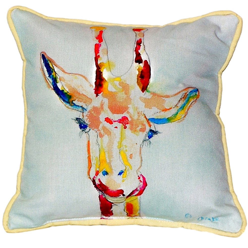 Giraffe Indoor Outdoor Pillow 22x22   Betsy Drake   BDZP048
