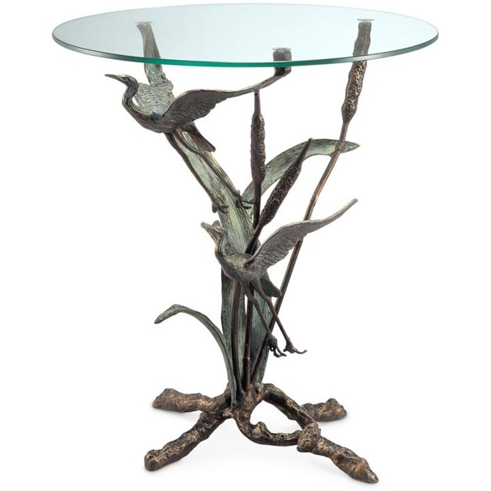 Crane Pair in Flight End Table   33844   SPI Home
