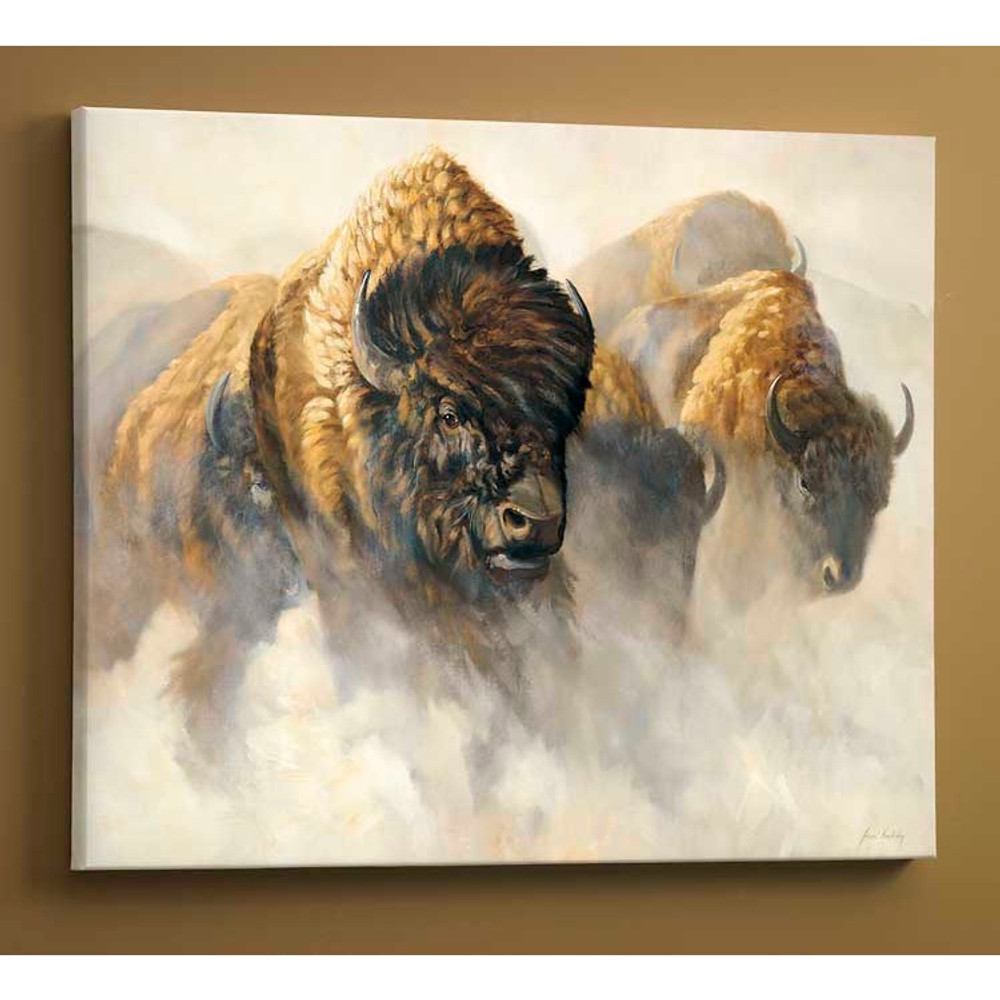 Bison Canvas Wall Art | Wild Wings | F362600469