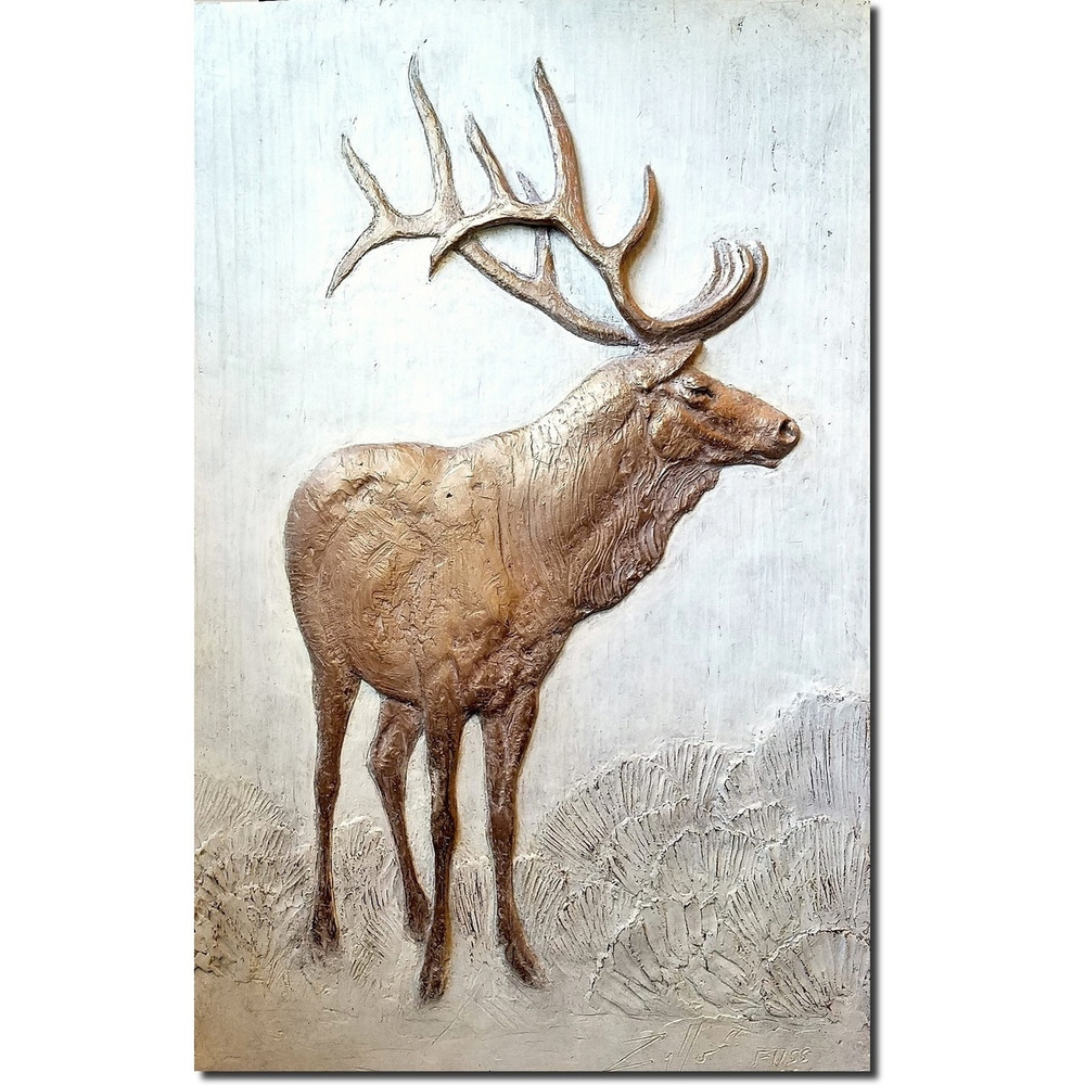 Elk Bas Relief Ltd Edition Wall Art | Rod Zullo
