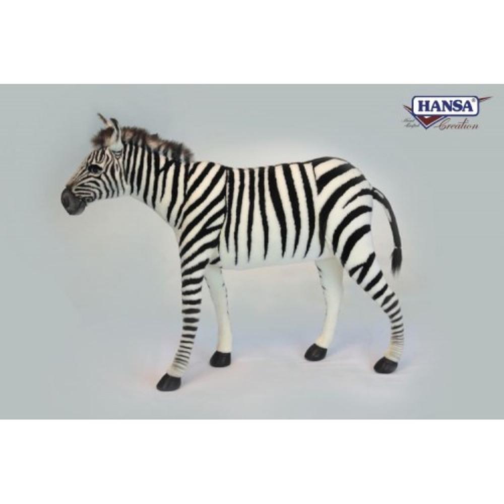 Zebra Seat Stuffed Animal Bench | Hansa Toys | HTU6586