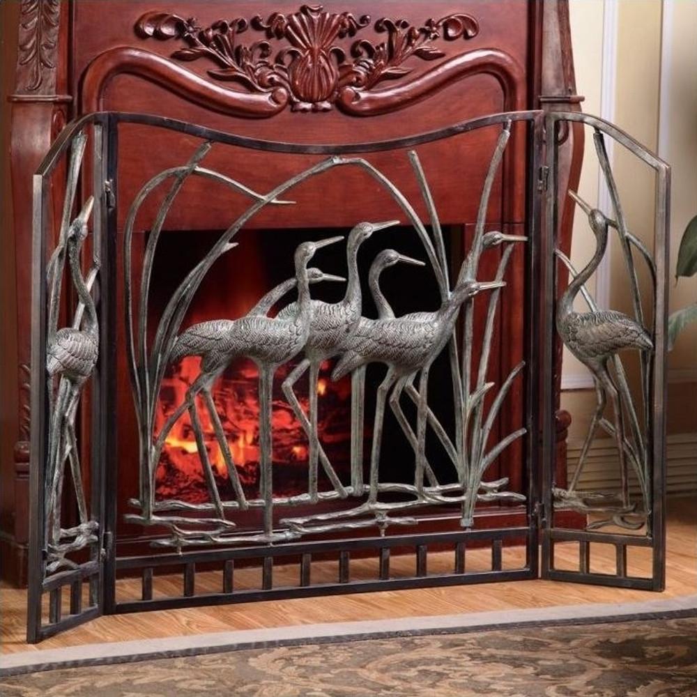Crane Fireplace Screen | 33791 | SPI Home