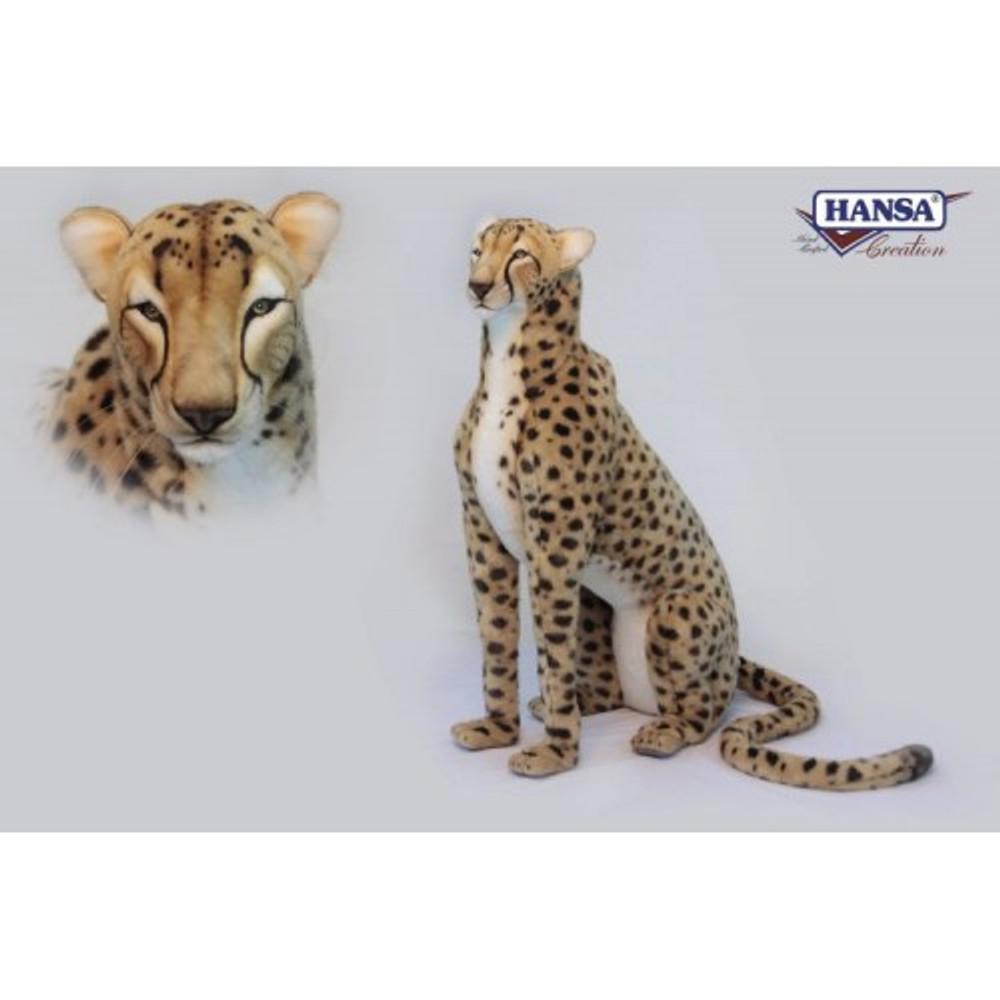 Cheetah Life-Sized Stuffed Animal | Plush Animal Statue | Hansa Toys | HTU6543