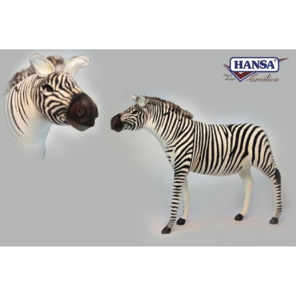 Zebra Giant Stuffed Animal | Hansa Toys | HTU6568