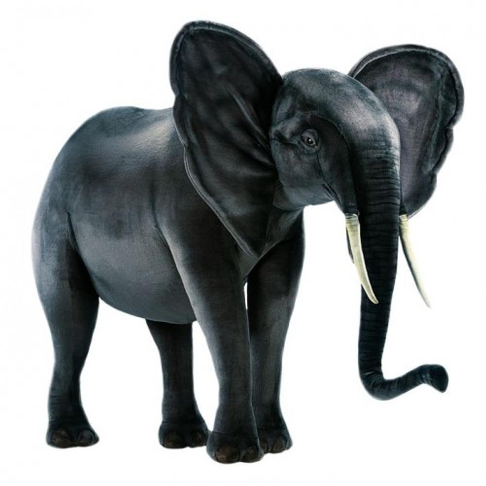 Elephant Extra Large Stuffed Animal | Giant Elephant Plush Statue | Hansa Toys | HTU2441