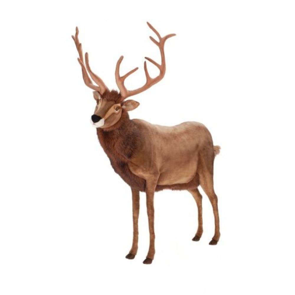 Reindeer Extra Large Stuffed Animal | Plush Reindeer Statue | Hansa Toys | HTU3349