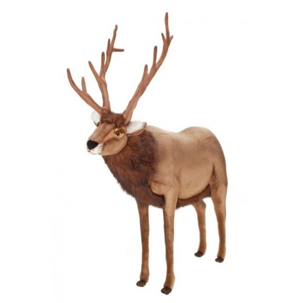 Reindeer Large Stuffed Animal | Plush Reindeer Statue | Hansa Toys | HTU3366