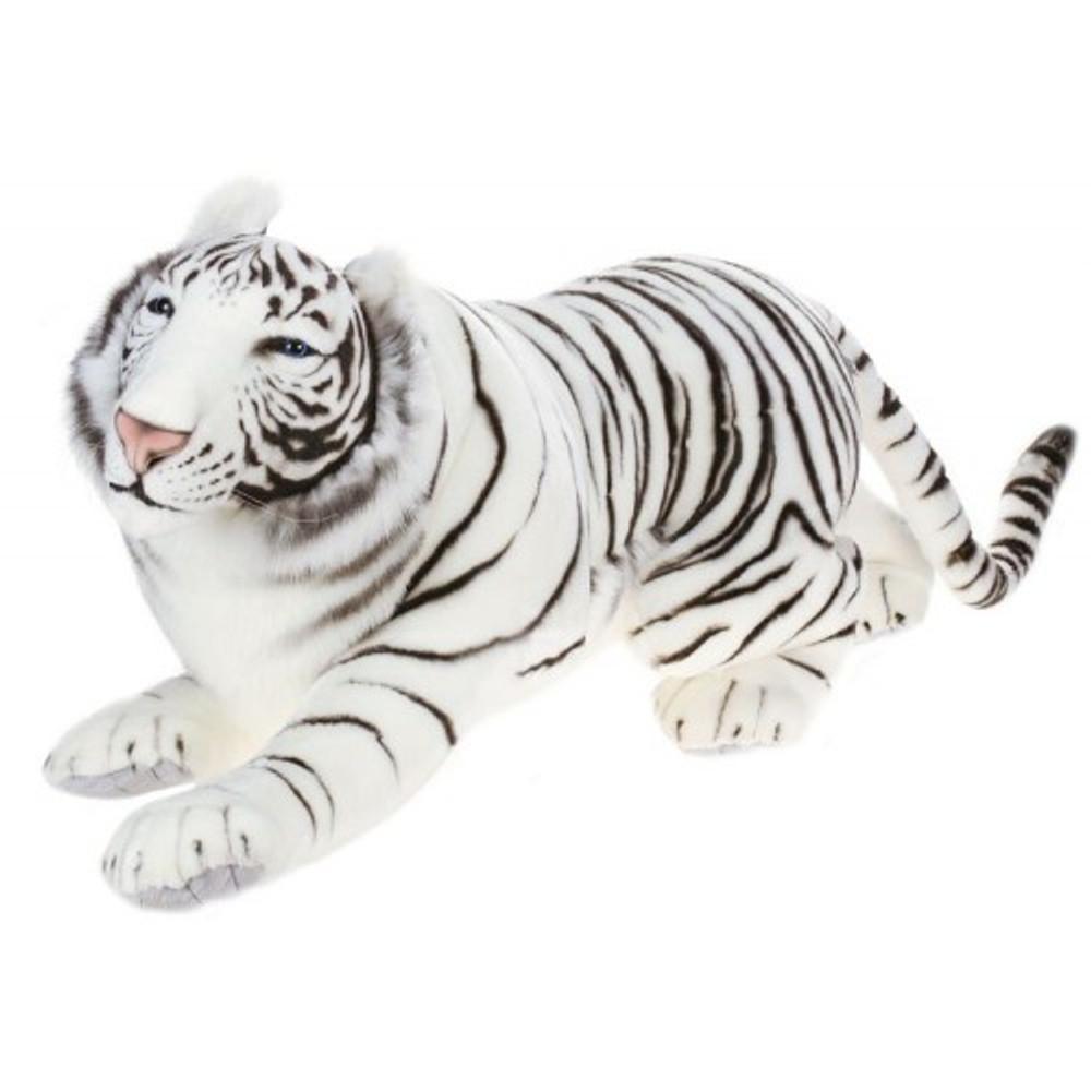 White Tiger Prowling Stuffed Animal   Plush White Tiger   Hansa Toys   HTU3980